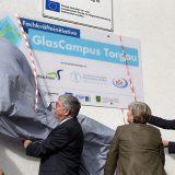 GlasCampus Torgau Eröffnung - Enthüllung des Schildes
